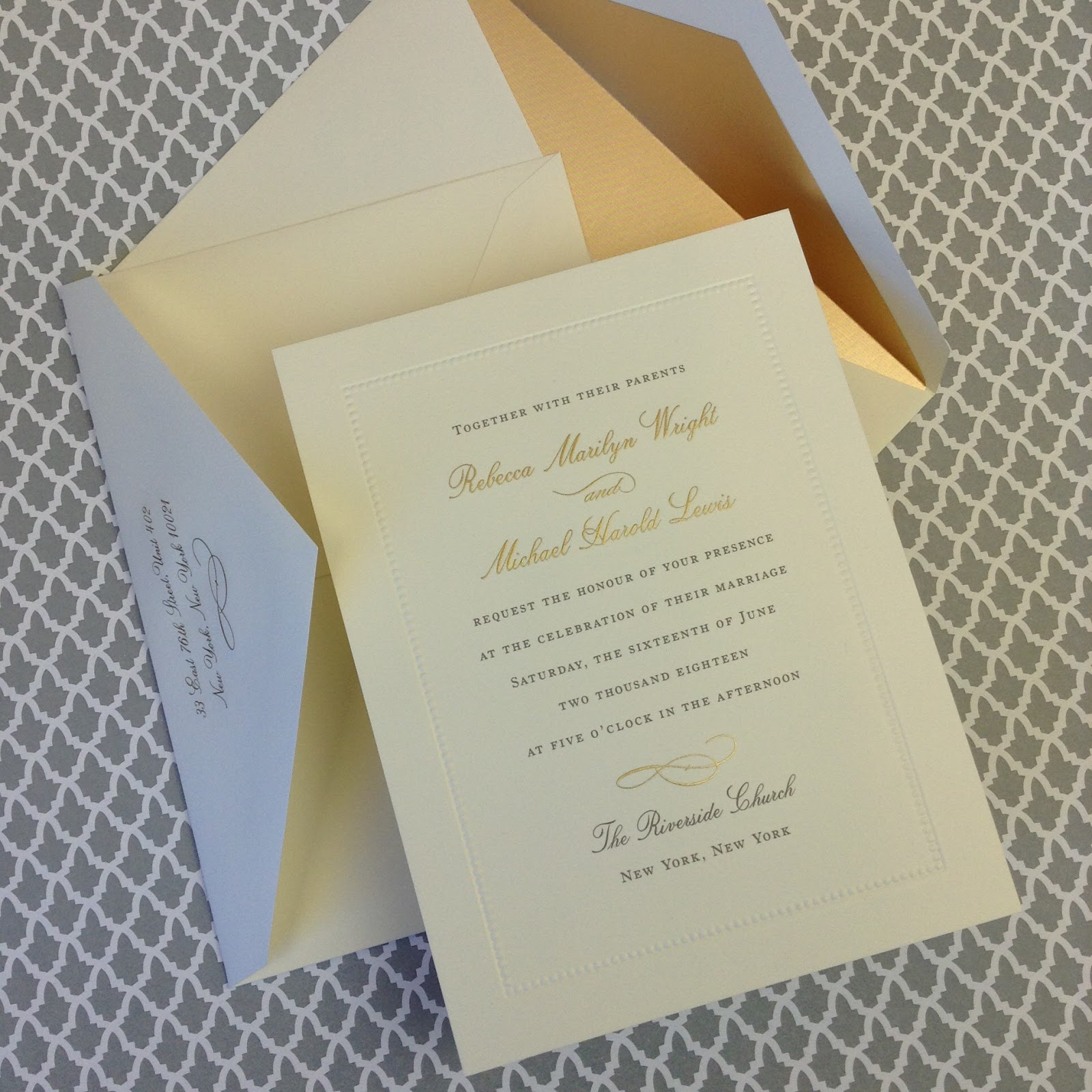 New William Arthur Wedding Invitation Samples Fresh Ink Style