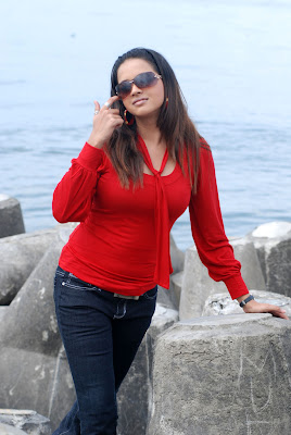 Cute Girl Bhawna In Red