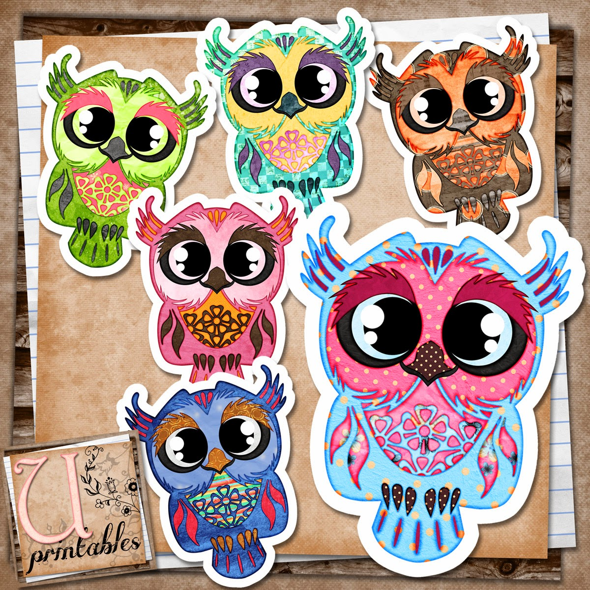 RebeccaB Designs: FREE Printable - Owls Patterned