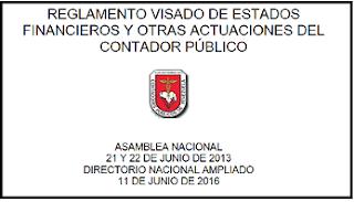 Reglamento Visado 2016