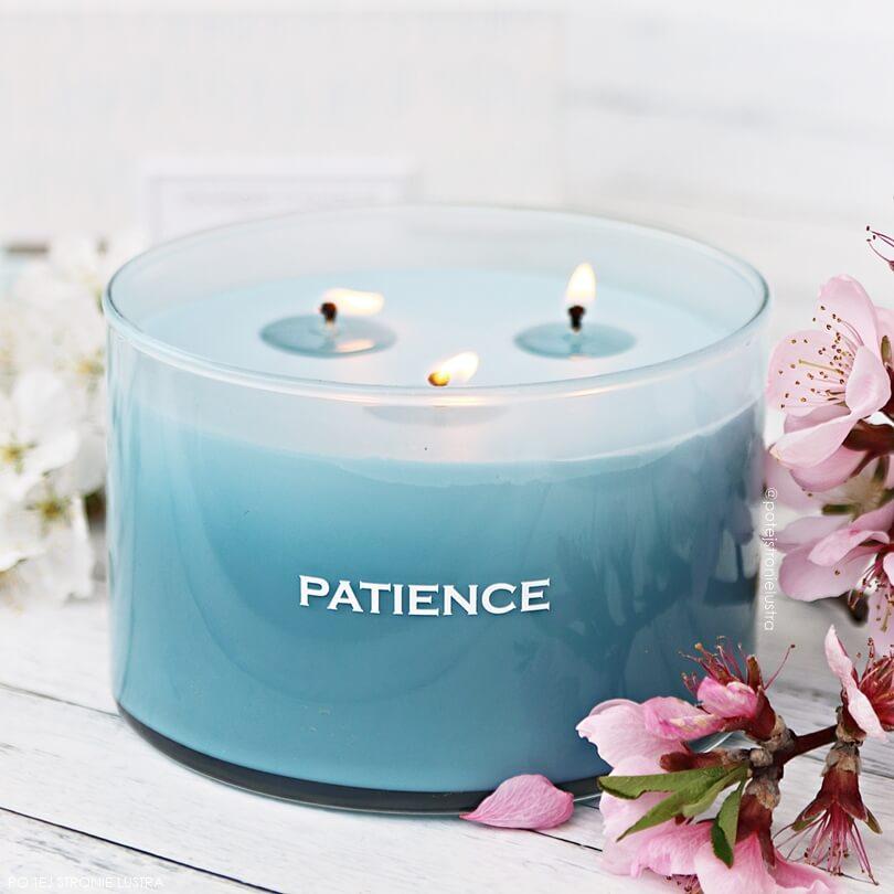 trzyknotowa świeca yankee candle patience
