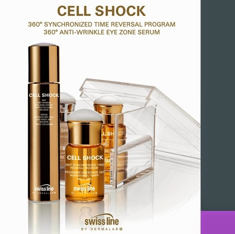 Swiss Line, Cell Shock 360° Synchronized Time Reversal Program, cell shock 360° Anti-Wrinkle Eye Zone Serum Triple Collagen Infusion, eye serum, anti aging product, am series, pm series, time reversal skincare program