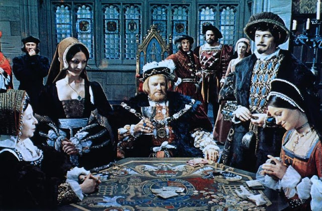 Henry VIII playing cards at court