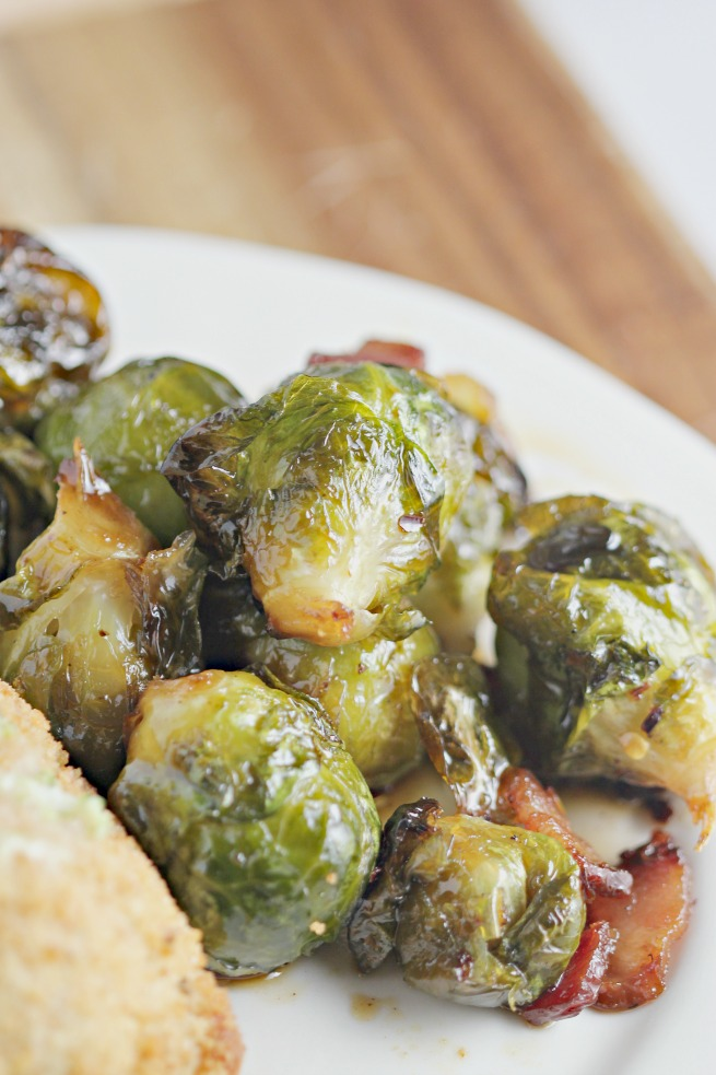 Pan fried brussels sprouts, honey bacon brussels sprouts, spicy brussels sprouts