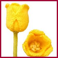Tulipanes de punto