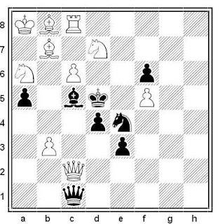 Problema de mate en 2 compuesto por L'udovit Lacny (1º/2º Premio, Martin-Zilina 2004)