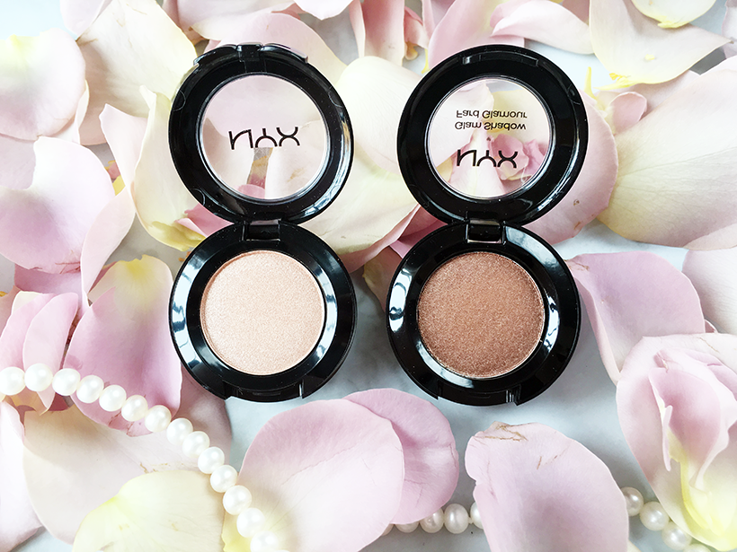 nyx eyeshadows in innocent and sentiment
