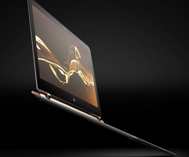 With the title of world's thinnest laptop, the HP Spectre is the epitome of performance and portability. Although its ultra sleek frame is only .41 inches thick, it features specs like a 256GB solid state hard drive, a powerful Intel i7 processor, and a full HD display.