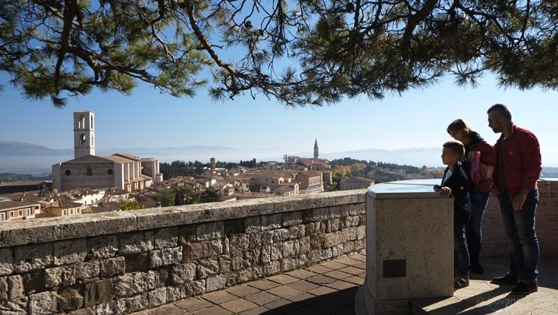 Perugia, belvedere giardini Carducci