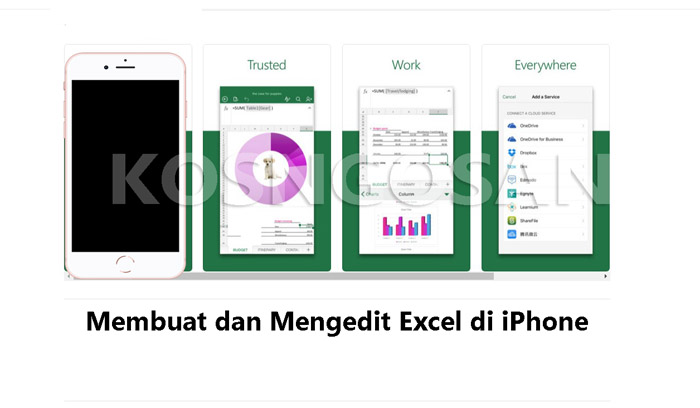 mengedit membuat excel iphone