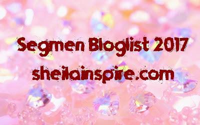 Senarai Peserta Segmen Bloglist 2017 SheilaInspire Dot Com