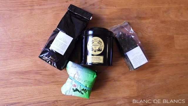 Valikoima vihreää teetä - www.blancdeblancs.fi