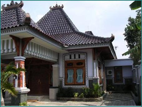 model rumah kampung etnik jawa yang cantik