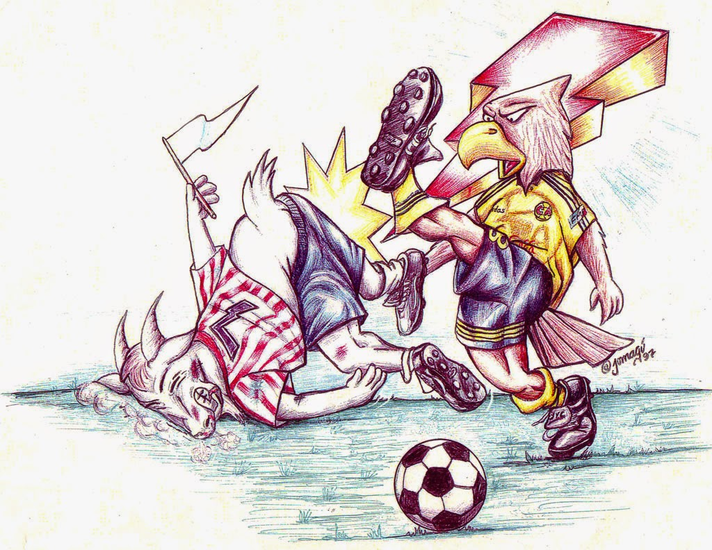 Jomag  ilustracin y dibujo  488  El clsico Amrica vs