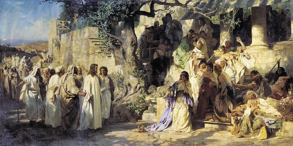 Cristo e Sinner - Pinturas com temas bíblicos