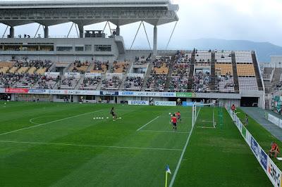 生坂サッカースクール(ISS) 松本山雅FCの試合観戦 キーパー練習