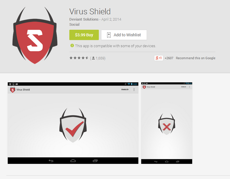 Breaking record, first PAID fake Android App 'Virus Shield' downloaded 10000 times