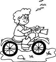 ציורי אופניים לצביעה