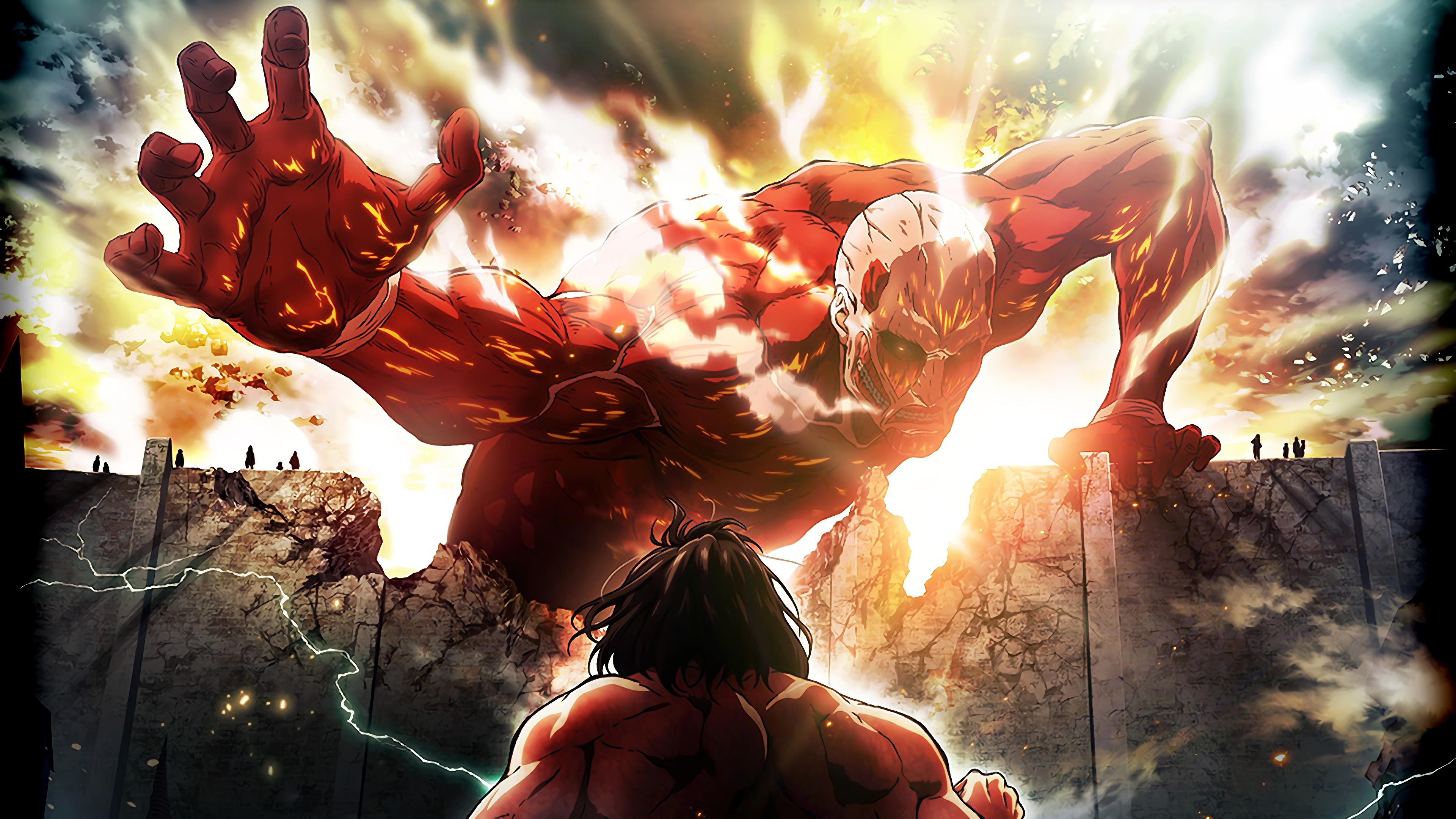 Colossal Titan Attack Titan Attack On Titan 4k Wallpaper 176