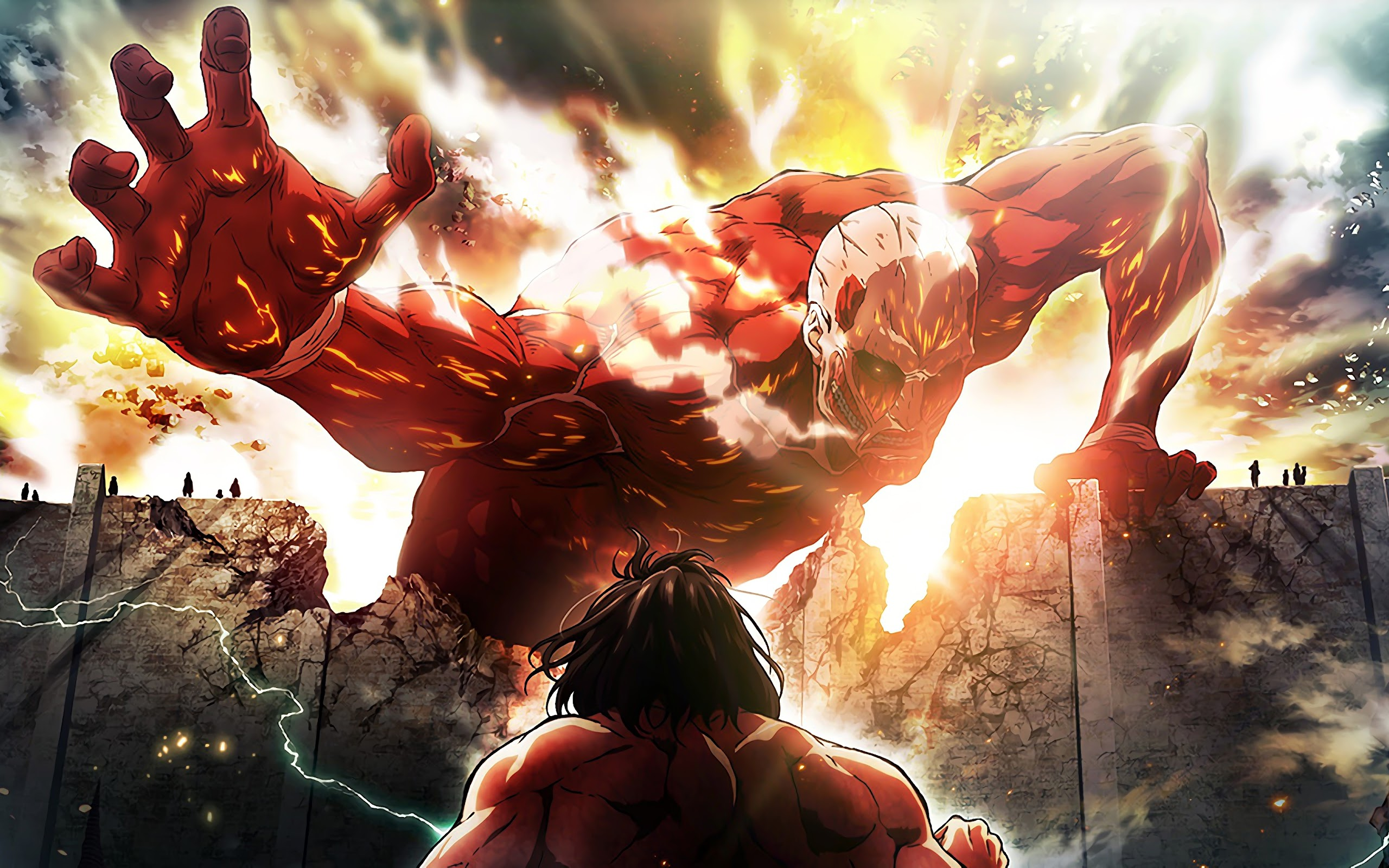 Colossal Titan Attack Titan Attack On Titan 4k Wallpaper 176