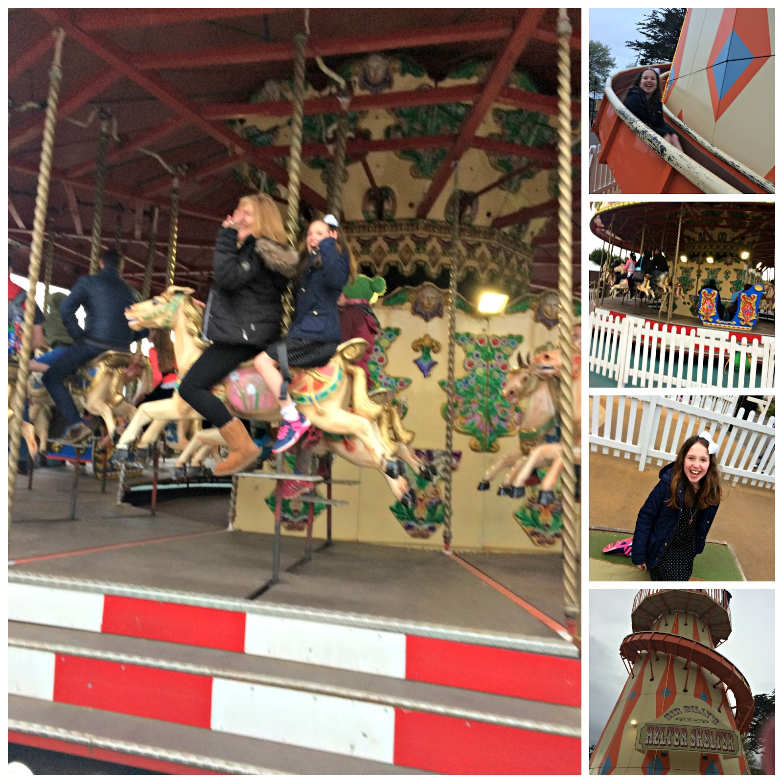 Carousel and helter skelter at Butlins Minehead