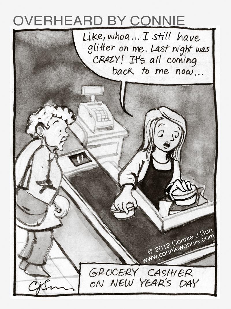 Cashier Cartoons: Cartoon Connie Comics Blog: January 2012