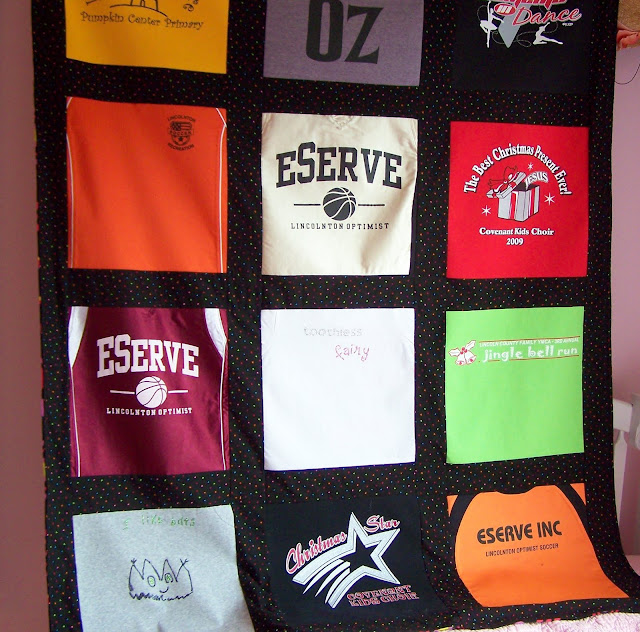 T Shirt Quilt with a Twist