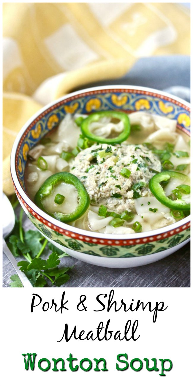 Shrimp and Pork meatball soup