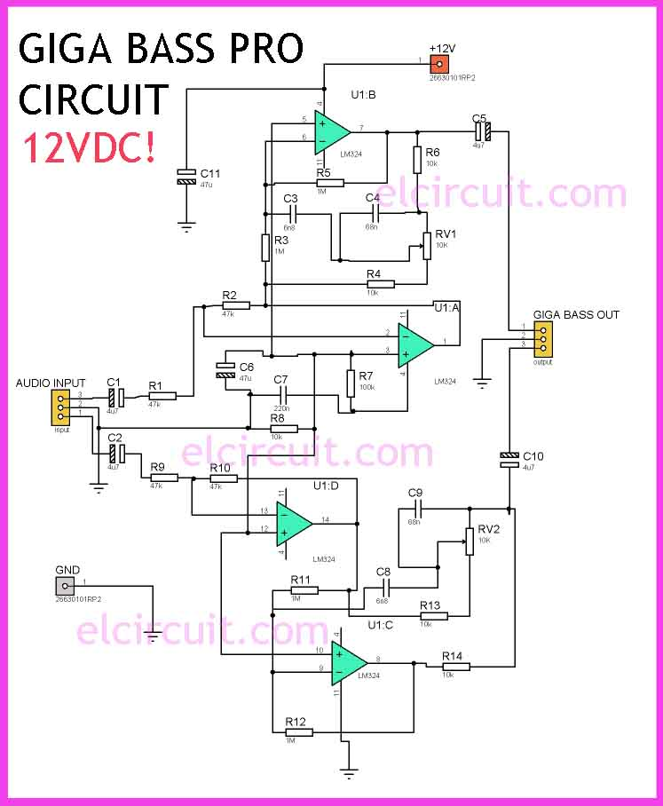 Lm324 Giga Bass Pro Circuit
