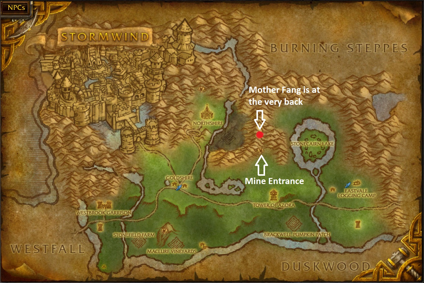 Duskwood mining map
