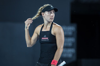Angelique Kerber in Black Dress at 2019 Sydney International Tennis