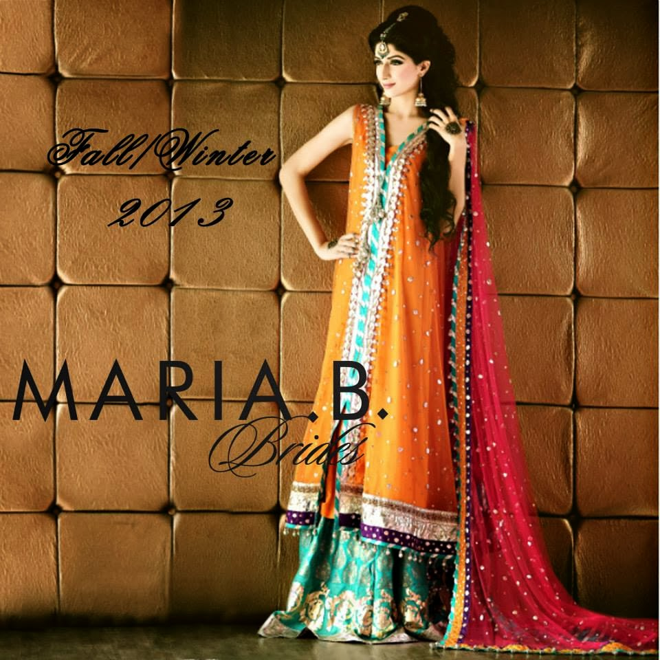 Notonlybeauty Maria B Bridals Fall Winter Collection 2013 Pakistani Famous Famous Brand Fall Winter Bridal Collection 2013