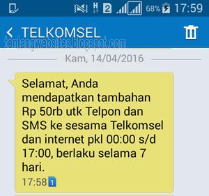Cara mendapatkan Pulsa gratis dari my telkomsel