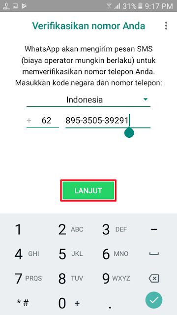 Verifikasikan nomor Anda