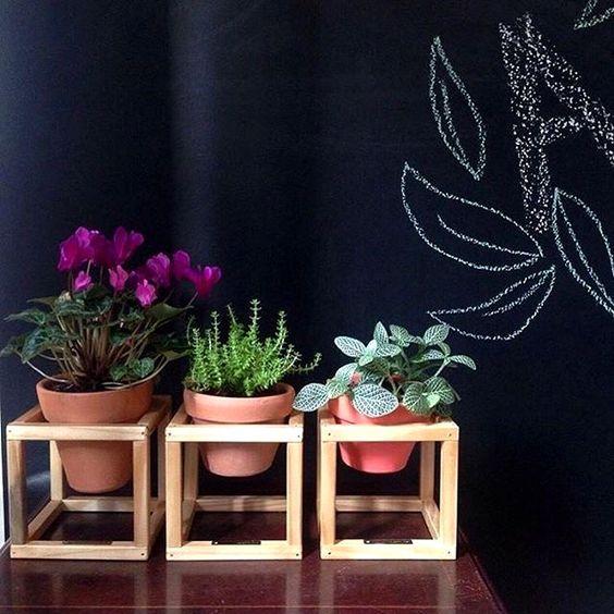Suporte para plantas - blog Achados de Decoração