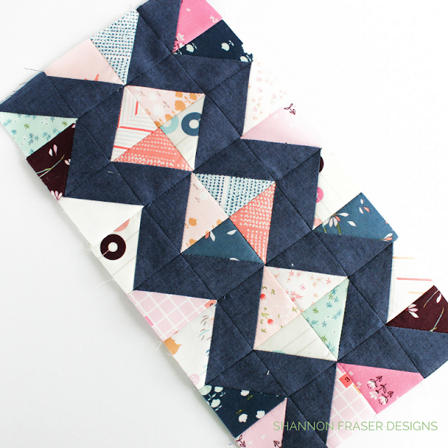 Half Square Triangles | Shannon Fraser Designs | Fabric Scraps | Playground Fabric | Art Galley Fabrics | Shot Cottons by Kaffe Fasset | Modern Quilting
