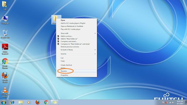rename folder in windows 7