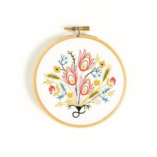floral hoop art