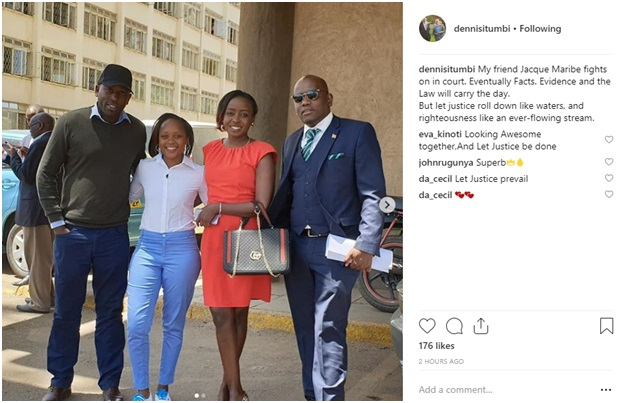 1 - PHOTO! DENNIS ITUMBI and JACQUE MARIBE resurface, he keeps on chasing her like a fly