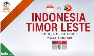 Jadwal Timnas Indonesia vs Timor Leste - Sabtu 4 Agustus 2018