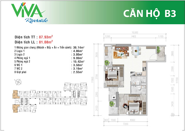 Mặt bằng chi tiết căn hộ Viva Riverside - B3