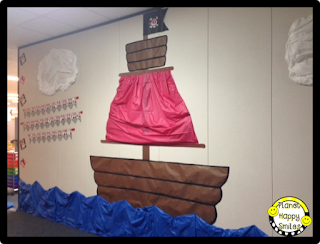 Planet Happy Smiles Pirate Bulletin Board