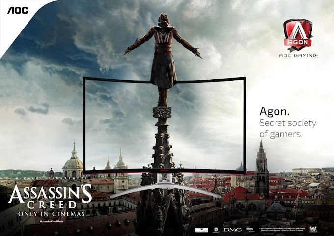 AOC partners with Twentieth Century Fox to let Gamers and Media experience the Assassin's Creed Movie