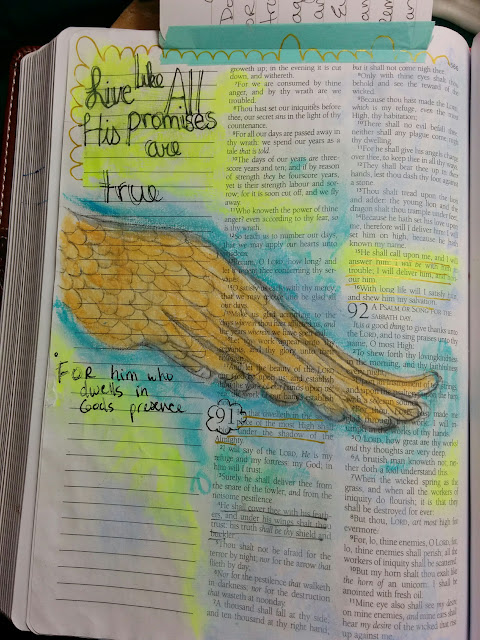 Bible Art, Bible Art journaling, Illustrated faith, illumnated faith