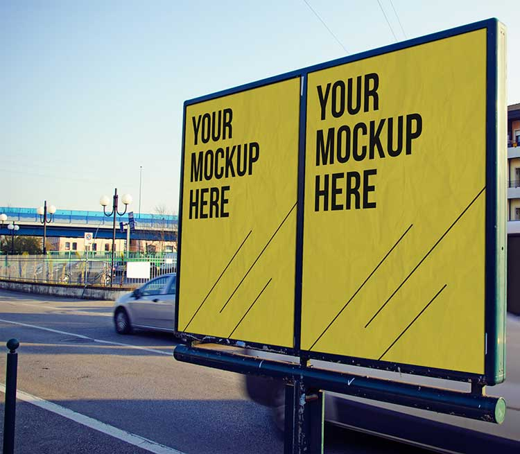 Free Outdoor Advertising PSD Mock-Up