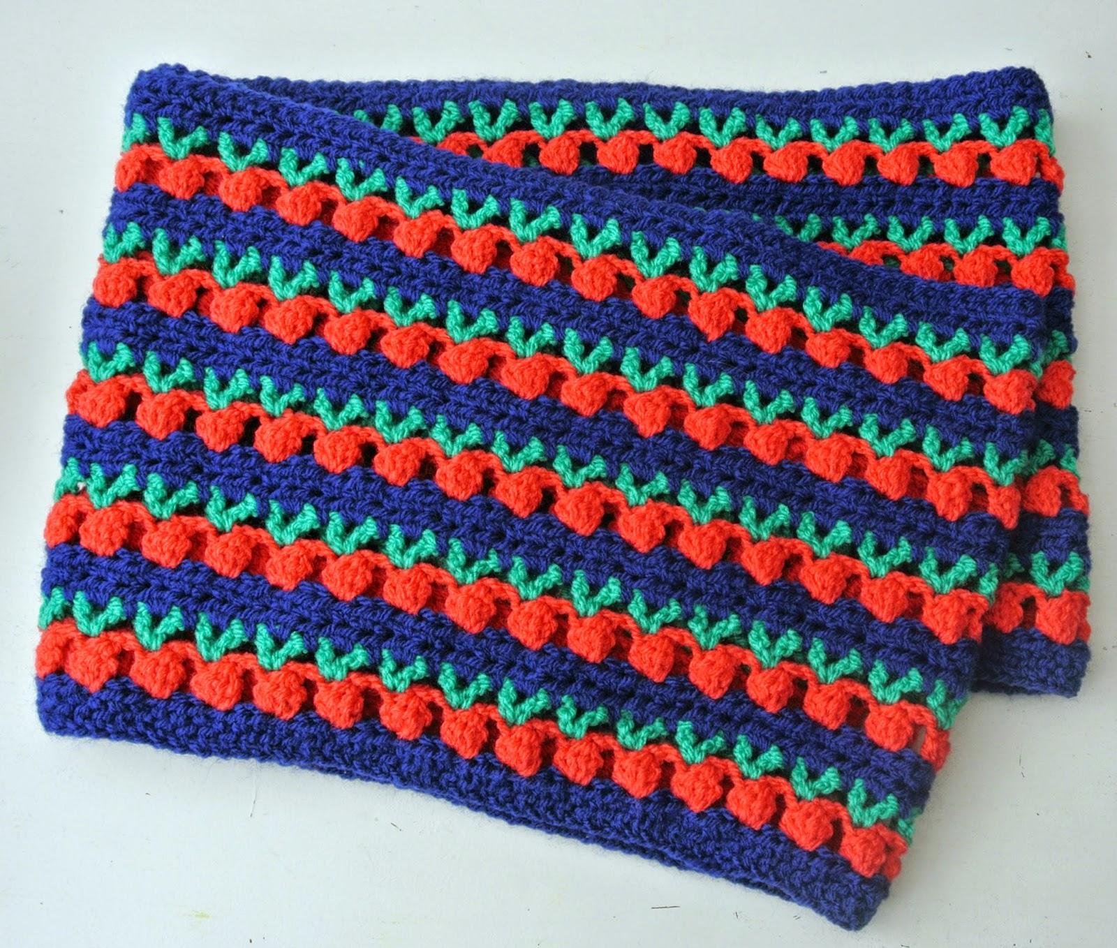 Haakpatroon sjaal met appels