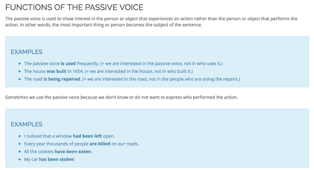 Why do we use passive voice?