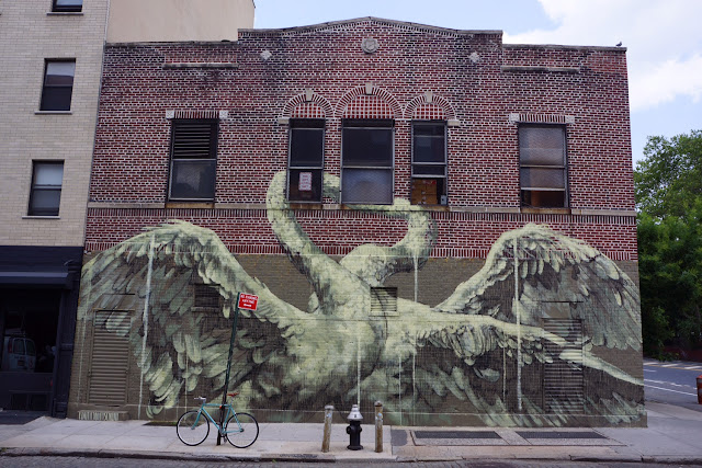 Faith47 is still super busy in New York City where she just finished working on yet another mural on the streets of Manhattan.