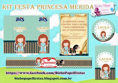 kit festa princesa merida valente brave para imprimir
