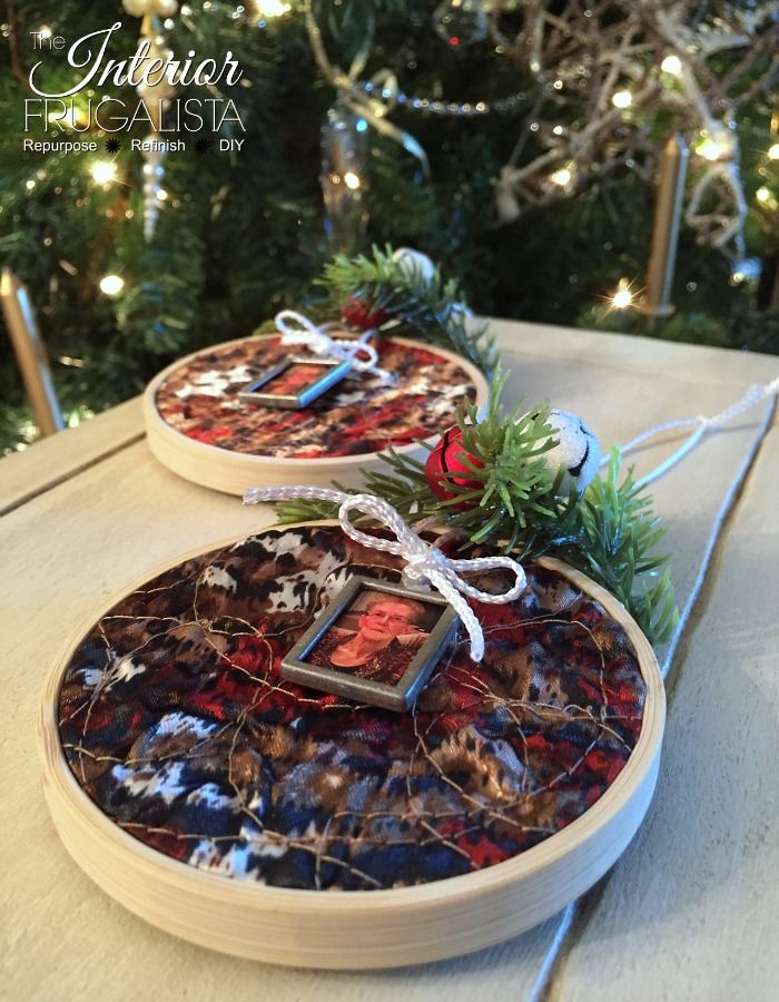 Embroidery Hoop Memorial Ornament Photo Frame